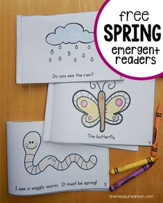 It's time for a set of Spring Color Me Readers! Grab this set of free emergent readers to go with your spring theme.