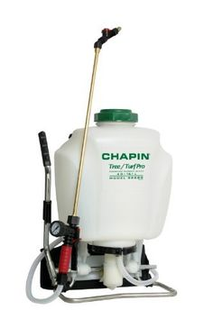 Chapin 62000 Tree/Turf 4-Gallon Pro Commercial Backpack Sprayer With Brass Wand by Chapin. $89.99. Pressure control 15-60 PSI. 4-Inch filtered opening. Adjustable cone and fan nozzle. In-tank removable filter. Pressure gauge for maximum efficiency. From the Manufacturer                Tree/Turf Pro Commercial Backpack Brass wand Sprayer. Chapin's best quality backpack sprayer. Strap it on your back and get the job done fast with 4-Gallon true capacity poly spr...