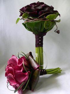 stylish weddings Atlanta Ga, exotic bridal bouquet, bridal black calla, bridal bouquets Atlanta Ga lilies
