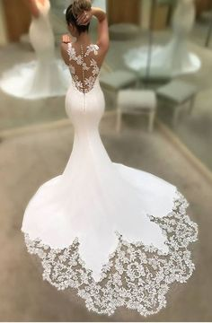 Wonderful Perfect Wedding Dress For The Bride Ideas. Ineffable Perfect Wedding Dress For The Bride Ideas. Dream Wedding Dresses, Bridal Dresses, Satin Mermaid Wedding Dress, Reception Dresses, Wedding Dress Train, Backless Wedding, Beach Dresses, Summer Dresses, Mod Wedding