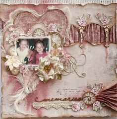 Scrapbook Page and Video Tutorial made for 'The Scrapbook Diaries' page kits by Gabrielle Pollacco
