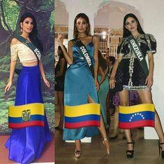 Dejando claro que quieren volver a ser el Top 3 de este año. Ecuador Colombia y Venezuela en la Cena de Gala.