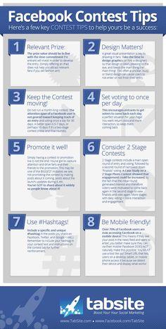 8 tips for a successful #Facebook Contest #INFOGRAPHIC www.socialmediamamma.com