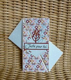 Une carte pliage (et son tutoriel !) - Le blog de Cath Fun Fold Cards, Folded Cards, Invitation Cards, Invitations, Make Up Art, Scrapbook Templates, Stamping Up, Homemade Cards, Deco