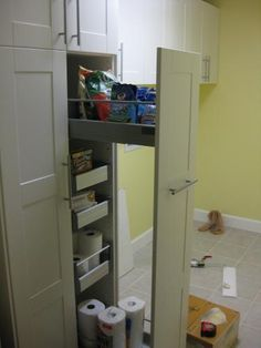 Ikea Laundry Room Cabinets | ... Finished   Laundry Room With Adel Pantry  And