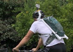GoPro hydration pack mount using PVC. I like this shoulder mount idea. Super easy to do.