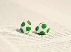 $13.50 Yoshi Egg Super Mario Nintendo Polymer Clay Earrings