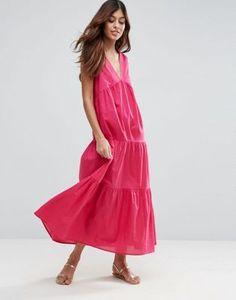 ASOS Tiered Cotton Maxi Dress
