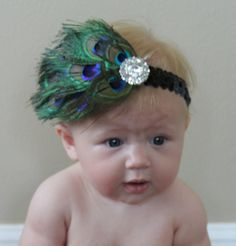 Little Flapper Peacock Headband by TumbleweedsCo on Etsy