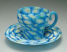 Excellent Italian Fratelli Toso Millefiori Murrine Art Glass Teacup Saucer | eBay