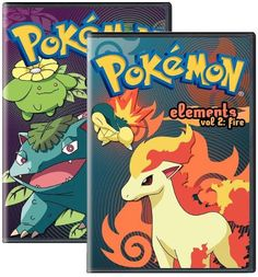 """buy now This 2-disc set contains the episodes """"Grass Hysteria,"""" """"The Grass Root,"""" """"Now That's Flower Power,"""" """"The Flame Pokémon-athon,"""" """"Good 'Quil Hunting"""" and """"All Torkoal, No Play."""" Fire Pokemon, Pokemon Movies, Dorm Room, Flower Power, Grass, Hunting, Play, Anime, Art"""