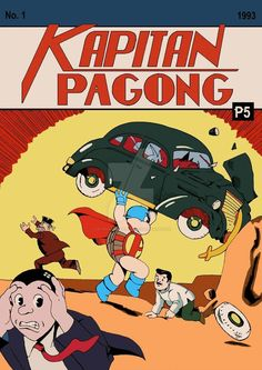 Kapitan Pagong by originalnameless on DeviantArt Action Comics 1, Pinoy, Comic Covers, Comic Character, Cartoon Art, Pop Culture, Mickey Mouse, Nostalgia, Fan Art
