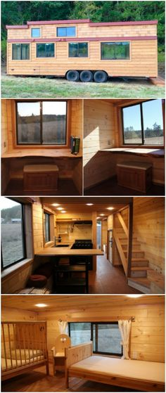 "450sf Tiny House Made for a Family of Four Proves ""Going Tiny"" Isn't Just for Couples! - One common misconception of the Tiny House Movement is that it's just for young or retired couples without children in the home. However, this tiny house built by Westcoast Outbuildings was designed to fit a family of four and do so comfortably! The 450 square foot house ended up costing around $97,000 and was built to ""Healthy Living"" standards with no toxins present."
