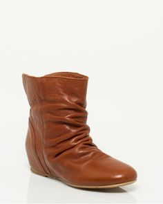 Italian+Made+Ruched+Leather+Ankle+Boot