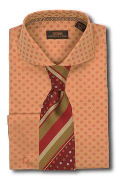 Men's Dress Shirt by Steven Land DA617 Rust