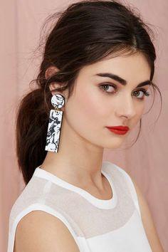 I Still Love You NYC Marbleized Drop Earrings