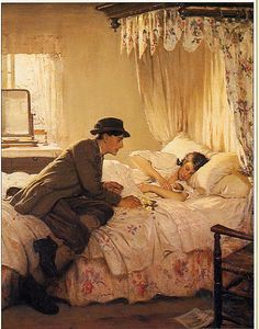 Minn Hoggs fav bed room scene Fabric / half tester