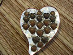 Milk Chocolate and Dark Chocolate in Modern Heart Shaped Valentine's Day box
