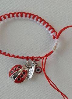 Macrame Martis Bracelet with Ladybug