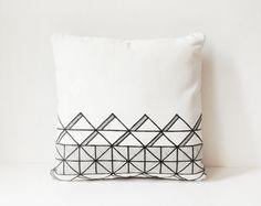 14x14 Tribal - Original Hand Drawn Pillow Cover