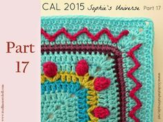 Part 17 of Sophie's Universe CAL This crochet-along is a project with step-by-step photos, video tutorials, and translations. Crochet Crafts, Crochet Yarn, Crochet Stitches, Crochet Projects, Blanket Crochet, Crochet Blocks, Crochet Squares, Crochet Mandala Pattern, Crochet Patterns