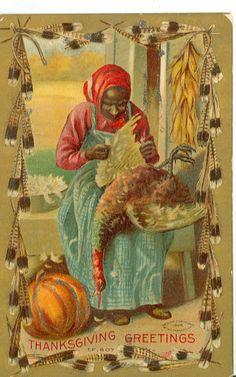 Black Americana Thanksgiving Greeting