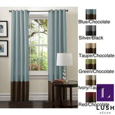 Lush Decor 84 inch Prima Curtain Panel Pair   Overstock.com Shopping - Great Deals on Curtains