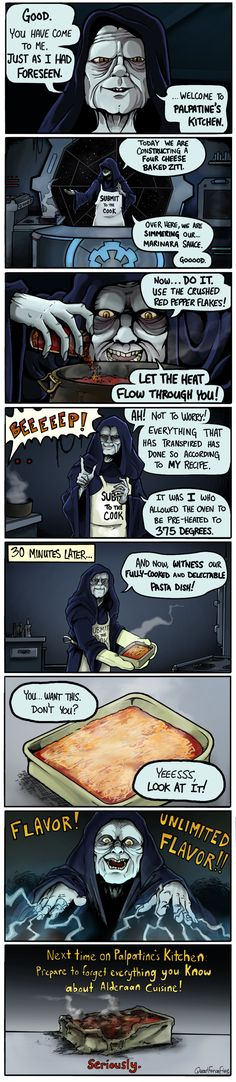 """Palpatine's Kitchen"" Comic by Quad Force Five — GeekTyrant"