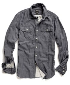 Charcoal Two Pocket Sport Shirt / Todd Snyder