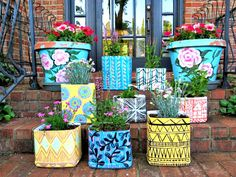 Garden Containers from Kitty Litter Containers (jugs): By blogger, artist and teacher Cassie Stephens