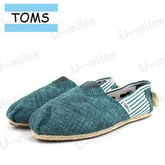 Toms Cordones Women Canvas Cyan Split Joint Stripe