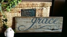 "Rustic Reclaimed wood ""Grace"" Sign"