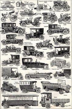 The Larousse universel illustration-automobile Vintage Cars, Antique Cars, Lanz Bulldog, History Of Earth, Automobile, Car Painting, Vintage Bicycles, Antique Prints, Paris