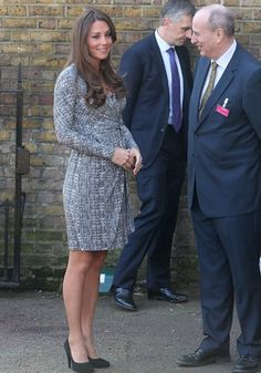For her first official engagement of the year, a pregnant Kate visited a South London rehab facility on Feb. 19, 2013.