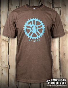 Bike Sprocket - Mens T-Shirt - Heather Brown