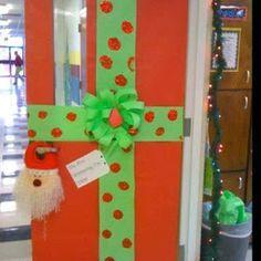 manualidades como adornar la puerta de navidad - Buscar con Google