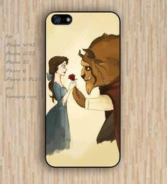 iPhone 5s 6 case colorful beauty or the beast case phone case iphone case,ipod case,samsung galaxy case available plastic rubber case waterproof B288