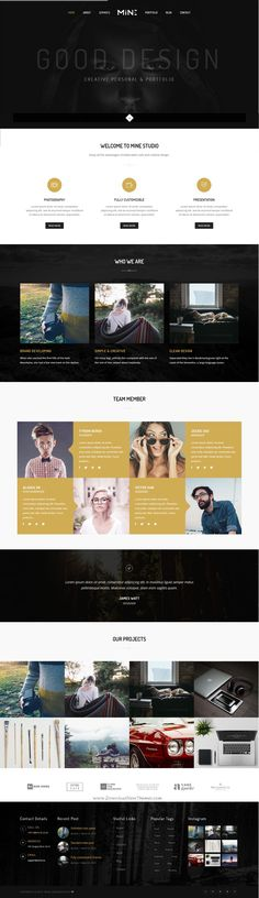Mine – Creative Agency & Portfolio HTML site Template which is based on #Bootstrap v3.3.5 version. Its perfect for creative #agencies, photography studios or developers #website.