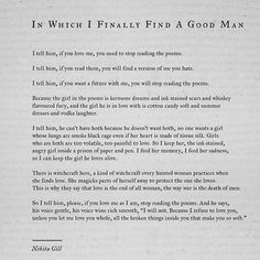 This is an important poem for me. Because I had forgotten such good men exist. Thank you for reading. This is a longer one I know, so your patience is so deeply valued. #poem #poetry #writing #goodmen #quotes #love #nikitagill