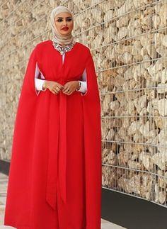 red cape abaya