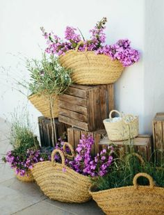 Canastas co flore