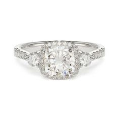 1.78 ct G SI1 CUSHION CUT DIAMOND ENGAGEMENT RING 18k - beautiful!