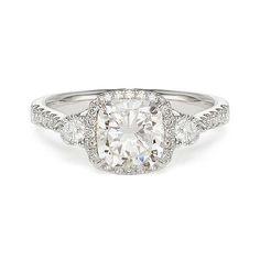 1.78 ct G SI1 CUSHION CUT DIAMOND ENGAGEMENT RING 18k
