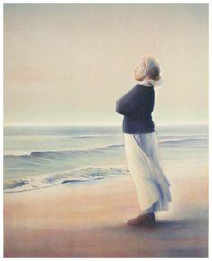På stranden, Vebjørn Sand, Norway at Cape Henlopen. Tracy Chevalier, Sand Painting, Scandinavian Art, Beach Art, Public Art, Beautiful Paintings, Hand Coloring, Norway, Art Projects