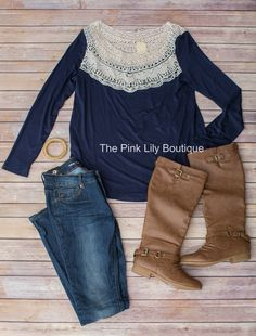 Lace Alert!! The perfect outfit to transition into spring!