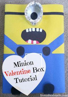 Minion Valentine Box Tutorial