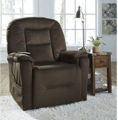 Samir - Coffee - Power Lift Recliner by Signature Design by Ashley. Get your Samir - Coffee - Power Lift Recliner at JB's Furniture, Milwaukee WI furniture store. Lift Recliners, Lounge Areas, Signature Design, Room Chairs, Office Chairs, Living Room Furniture, Furniture Sale, Studio Furniture, Furniture Chairs