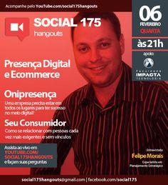 Tema: Presença Digital e Ecommerce. Convidado: Felipe Morais. Com Denis Zanini e Sandru Luis. Clique e assista!