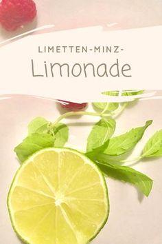 Rezept für -Minz-Limonade mit Himbeeren und wenig Zucker. Leckere Limo, schnell gemacht.