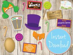 INSTANT DOWNLOAD  Willy Wonka Inspired by UponATimeDesigns on Etsy, $4.00